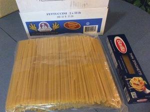 Pasta Fettuccini Bulk—Prepper Portion--10 pound bag
